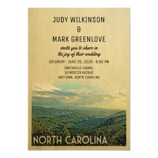 North Carolina Wedding Invitation Vintage Mountain