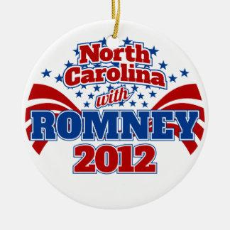 North Carolina with Romney 2012 Ceramic Ornament