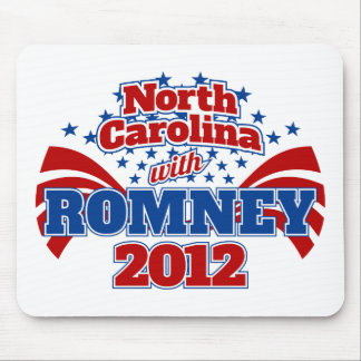 North Carolina with Romney 2012 Mouse Pad