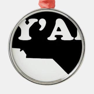 North Carolina Yall Metal Ornament