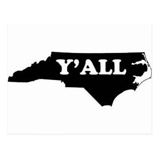 North Carolina Yall Postcard