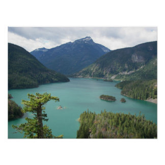 North Cascades Diablo Lake Landscape Photo Poster