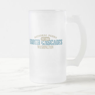 North Cascades National Park Frosted Glass Beer Mug