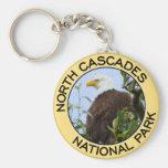 North Cascades National Park Basic Round Button Keychain