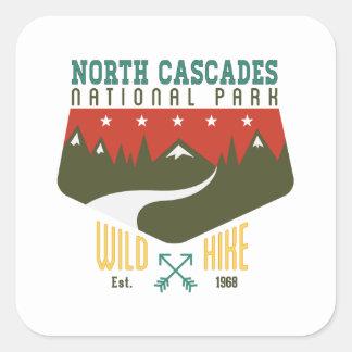 North Cascades National Park Square Sticker