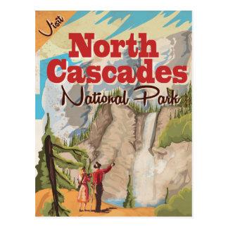 North Cascades national park Vintage Travel Poster Postcard