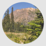North Cascades Pass Round Sticker