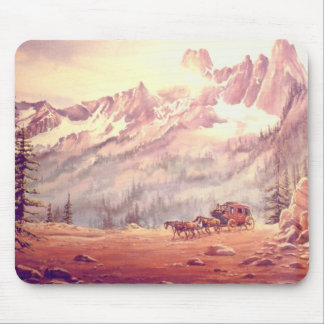 NORTH CASCADES STAGECOACH by SHARON SHARPE Mouse Mats
