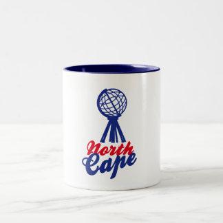 NORTH CASTRATES GLOBE SCULP. Two-Tone COFFEE MUG