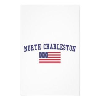 North Charleston US Flag Stationery