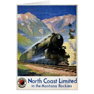 North Coast Limited Vintage Travel Poster Restored Card