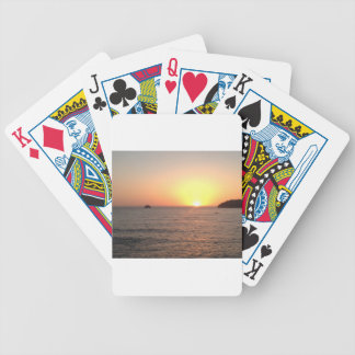 North Coast Sunset Bicycle Playing Cards