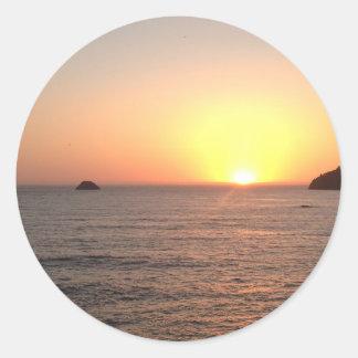 North Coast Sunset Classic Round Sticker