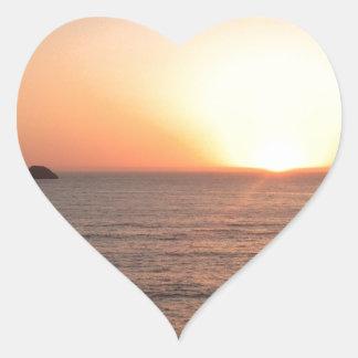 North Coast Sunset Heart Sticker