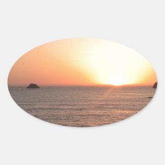 North Coast Sunset Oval Sticker