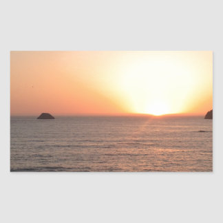 North Coast Sunset Rectangular Sticker