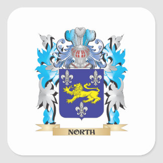 North Coat of Arms - Family Crest Square Sticker