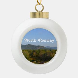 North Conway Ceramic Ball Christmas Ornament