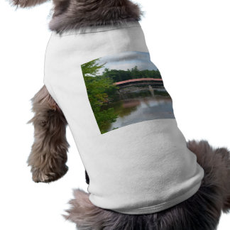 North Conway Covered Bridge Doggie T Shirt