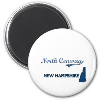 North Conway New Hampshire City Classic 2 Inch Round Magnet