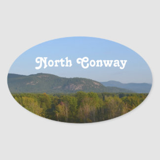 North Conway Oval Sticker