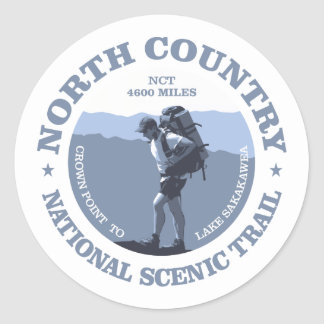 North Country Trail Classic Round Sticker