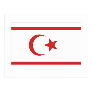 North Cyprus Flag Postcard