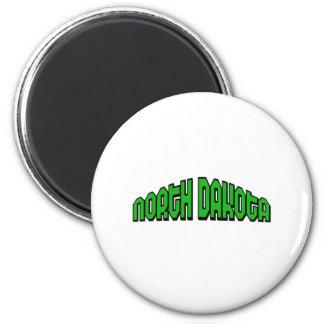 North Dakota 2 Inch Round Magnet