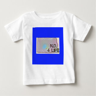 """North Dakota 4 Life"" State Map Pride Design Baby T-Shirt"