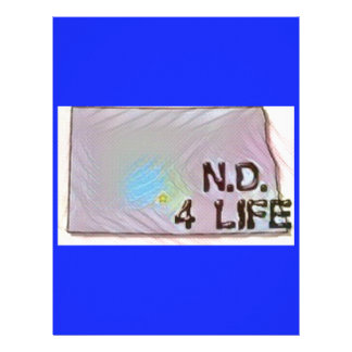 """North Dakota 4 Life"" State Map Pride Design Letterhead"