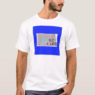 """North Dakota 4 Life"" State Map Pride Design T-Shirt"