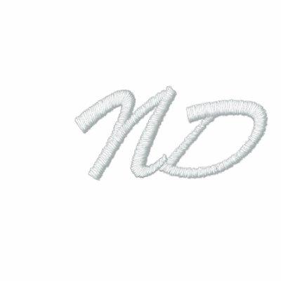 North Dakota Abbreviation Embroidered Hoodie