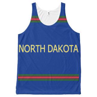 North Dakota All-Over Printed Unisex Tank All-Over Print Tank Top