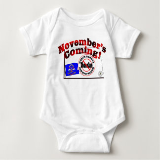North Dakota Anti ObamaCare – November's Coming! Baby Bodysuit
