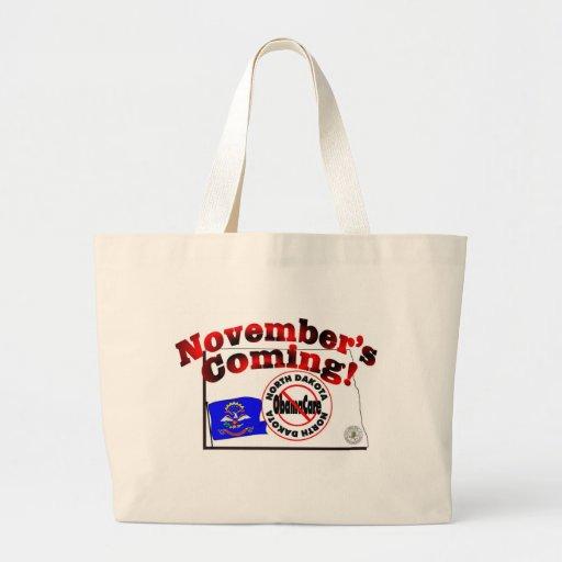 North Dakota Anti ObamaCare – November's Coming! Tote Bags