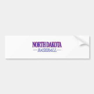 North Dakota baseball DESIGNS Bumper Sticker