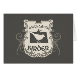 Greeting Card with North Dakota Birder design