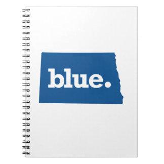 NORTH DAKOTA BLUE STATE SPIRAL NOTEBOOK