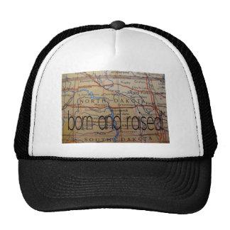 north dakota born and raised trucker hat