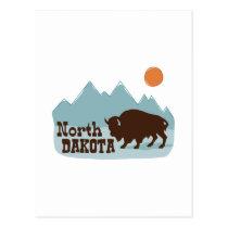 North Dakota Buffalo Postcard
