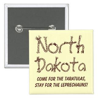 North Dakota Pinback Button