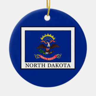 North Dakota Ceramic Ornament