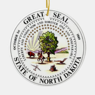 North Dakota* Christmas Ornament