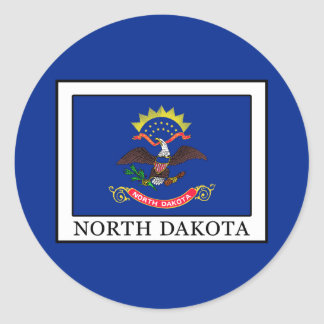 North Dakota Classic Round Sticker