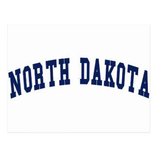 North Dakota College Postcard