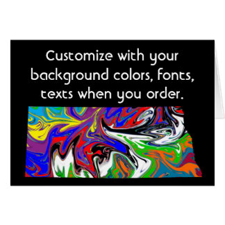 North Dakota Colorful Customize card how you want