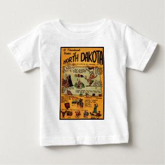 North Dakota Comic Book Baby T-Shirt