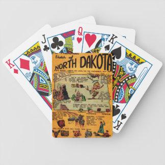 North Dakota Comic Book Bicycle Playing Cards