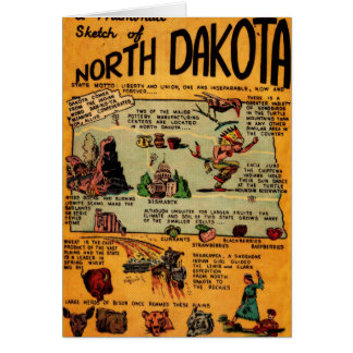 North Dakota Comic Book Card