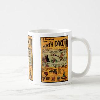 North Dakota Comic Book Coffee Mug
